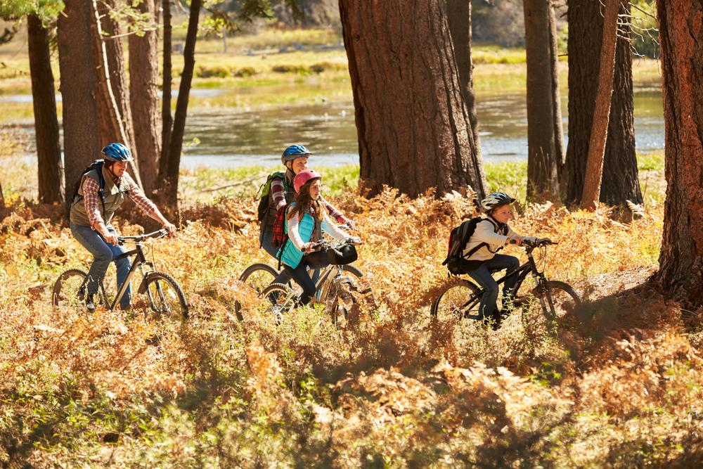 bike hike family