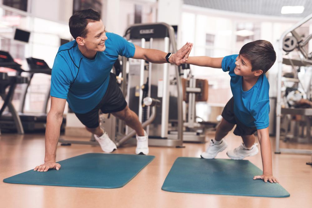 Familjens träningsrutiner